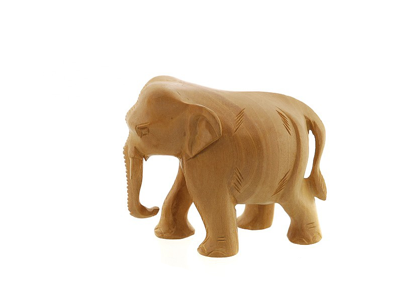 2 elephant en bois porte bonheur inde statuette elephant elephant artisanat figurines et. Black Bedroom Furniture Sets. Home Design Ideas