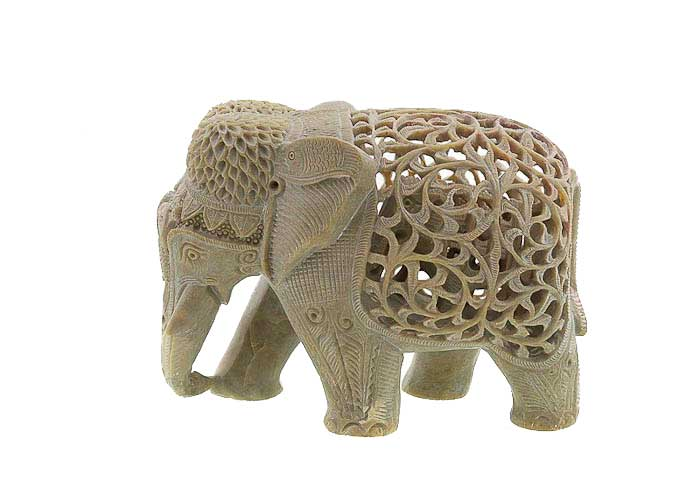elephant en pierre porte bonheur inde statuette elephant elephant artisanat figurines et. Black Bedroom Furniture Sets. Home Design Ideas