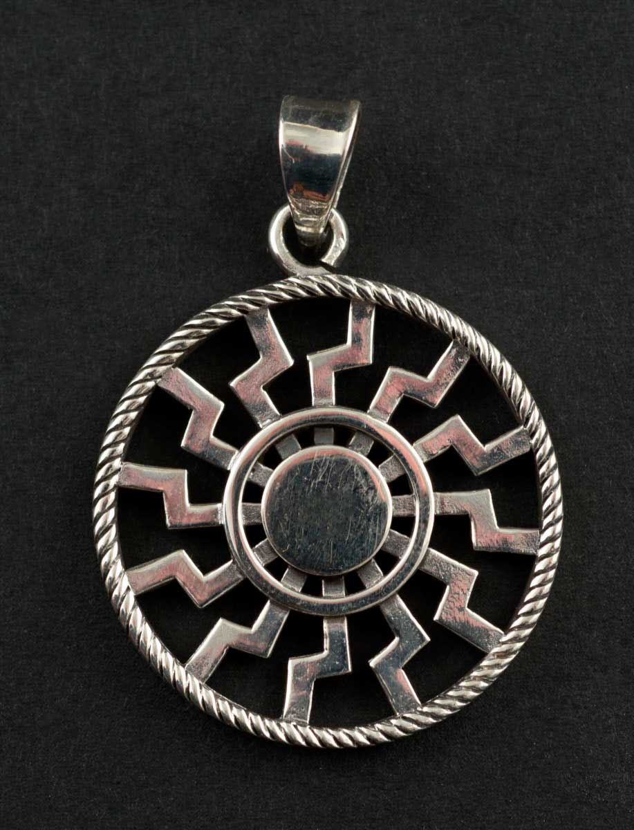 Pendentif  Rose des Vents Medaille Boussole Argent 925 6.9g 25916 M34