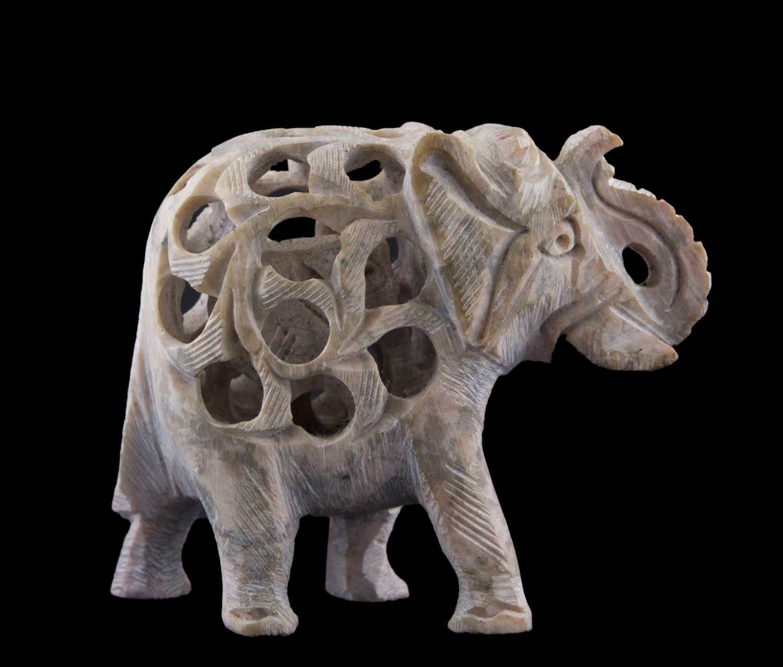 Elephant figurine en pate polymere fait main Peterandclo 7253