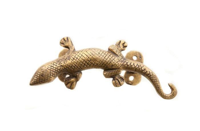 Poignée de Porte Gecko Lézard en Laiton Fait Main Peterandclo  7743 E3