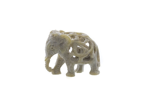 mini elephant en pierre porte bonheur statuette elephant elephant artisanat figurines et. Black Bedroom Furniture Sets. Home Design Ideas