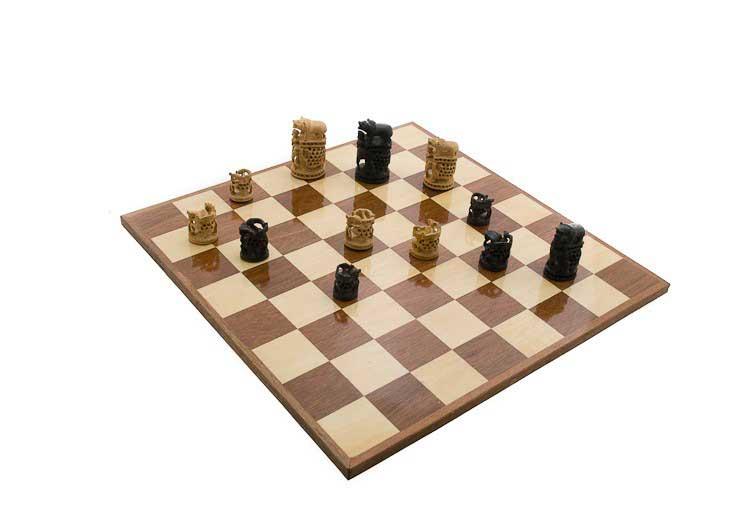 Echiquier jeu d 39 echecs de collection rare 47 x47 cm fait main inde echiquier artisanal jeu - Echiquier en bois fait main ...
