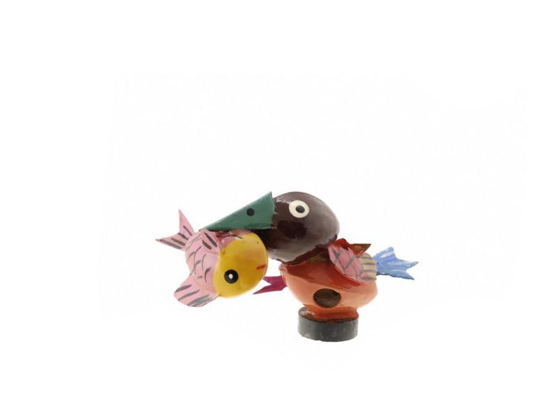magnet oiseau martin pecheur graine de pistache statuette du monde des animaux anmaux. Black Bedroom Furniture Sets. Home Design Ideas