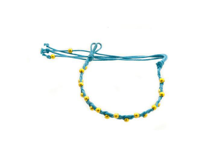 Bracelet bresilien amitie fil tresse avec perles porte bonheur 842 - Longueur fil bracelet bresilien ...