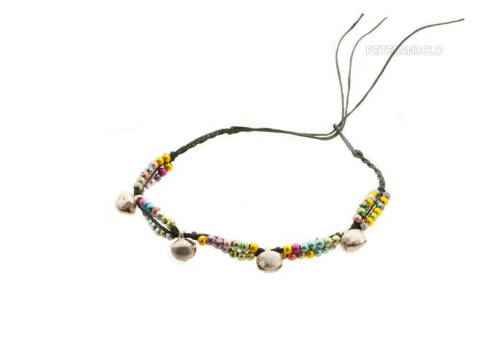 Bracelet bresilien amitie fil tresse perles porte bonheur clochette grelot 8158 - Longueur fil bracelet bresilien ...