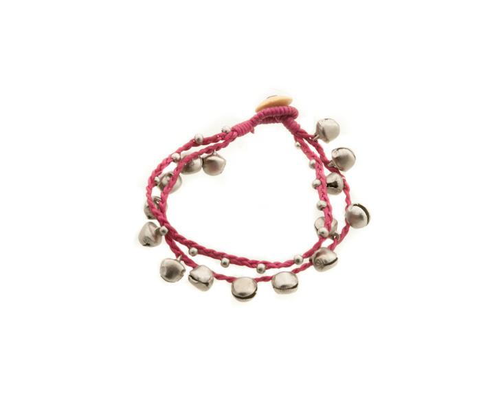 Bracelet bresilien amitie fil tresse perles porte bonheur clochette grelot 8160 - Longueur fil bracelet bresilien ...