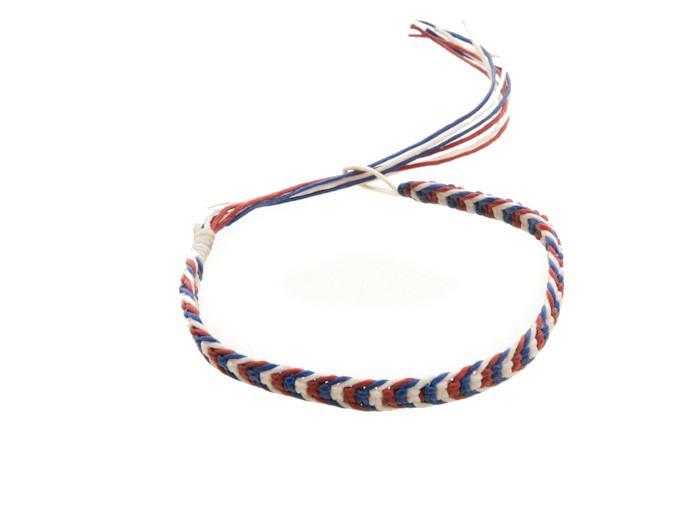 Bracelet bresilien amitie fil de coton cire tresse porte bonheur bleu 8173 - Longueur fil bracelet bresilien ...