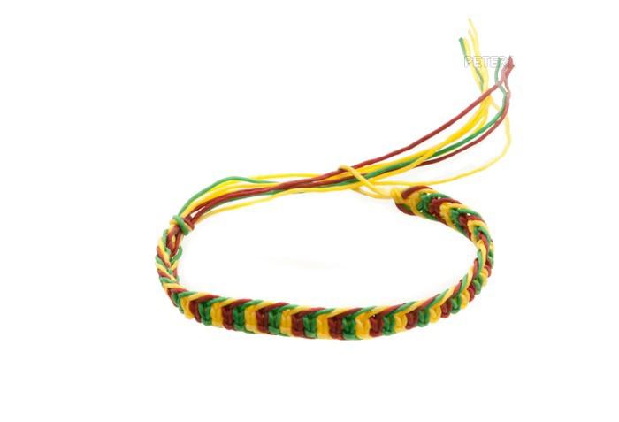 Bracelet bresilien amitie fil de coton cire tresse porte bonheur rasta 8174 - Longueur fil bracelet bresilien ...