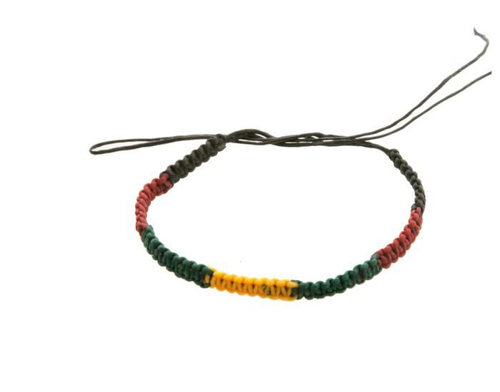 Bracelet bresilien amitie fil coton cire tresse rasta bob marley 8204 - Longueur fil bracelet bresilien ...