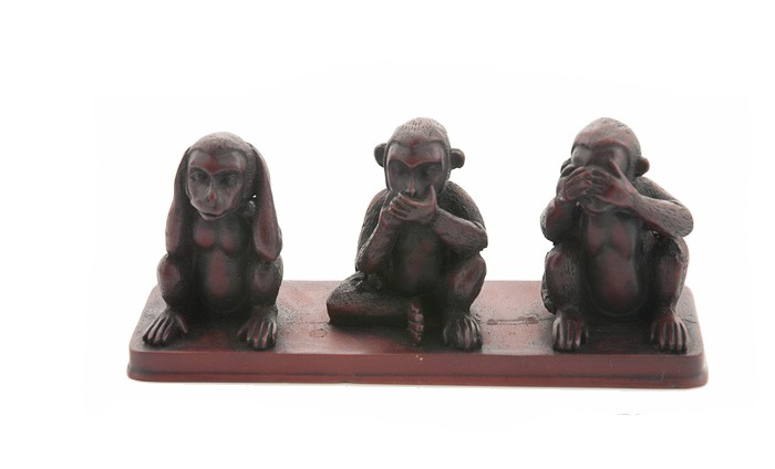 3 singes de la sagesse resine statue artisanat fait main. Black Bedroom Furniture Sets. Home Design Ideas
