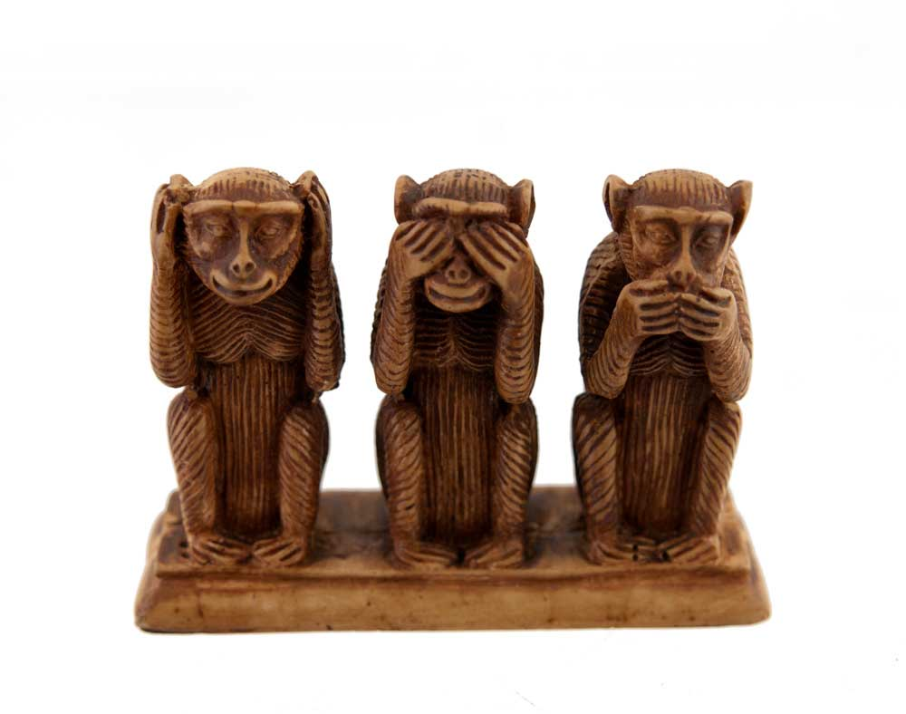 les 3 singes de la sagesse de peterandclo mizaru kikazaru. Black Bedroom Furniture Sets. Home Design Ideas