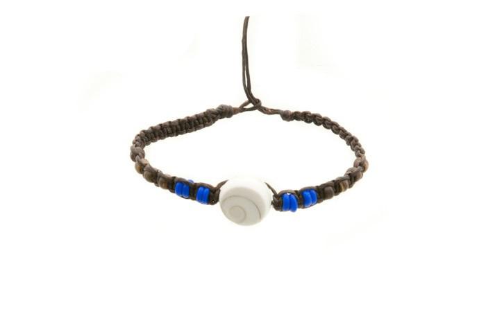 Bracelet bresilien amitie fil de coton porte bonheur oeil de shiva 8228 - Longueur fil bracelet bresilien ...