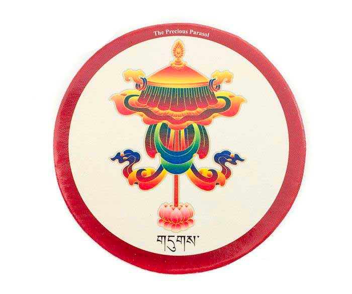 autocollant symbole auspicieux parasol precieux bouddhisme tibetain autocollant stickers tibet. Black Bedroom Furniture Sets. Home Design Ideas