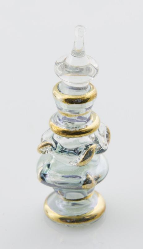 petit flacon fiole a parfum huile en verre souffl d 39 egypte 6cm bleu ca10 6025. Black Bedroom Furniture Sets. Home Design Ideas