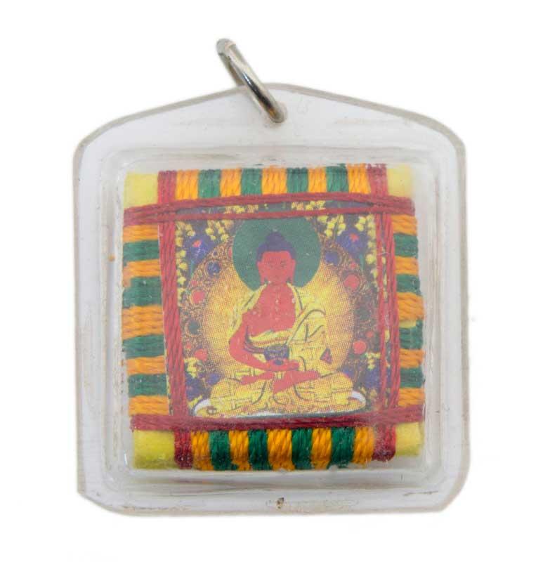 amulette tibetaine bouddha amitabha protection porte bonheur 5163. Black Bedroom Furniture Sets. Home Design Ideas