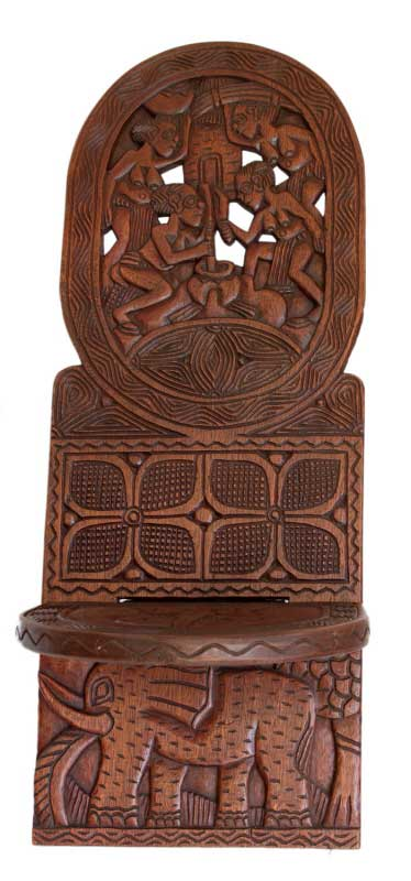 Grande Chaise Africaine 224 Palabre Gardien Elephant