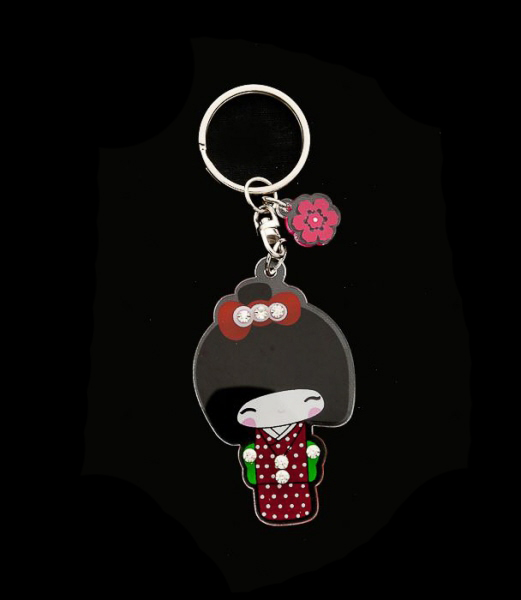 Porte Cés Collection Poupee Japonaise Kokeshi avec Strass   E2  8358