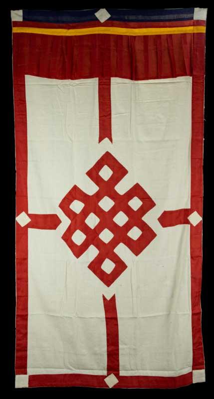 tenture de porte tibetaine rouge rideau de porte tib tain. Black Bedroom Furniture Sets. Home Design Ideas