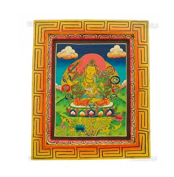 peinture sur bois tibetaine nepal tangka manjushree