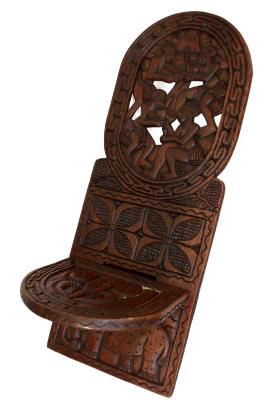 chaise africaine taille