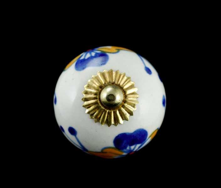 2 boutons poignees de placard en porcelaine indienne 45. Black Bedroom Furniture Sets. Home Design Ideas