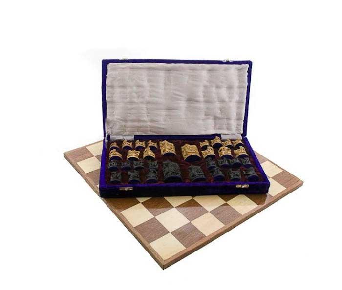 Echiquier jeu d 39 echecs de collection rare 47 x47 cm fait - Echiquier en bois fait main ...