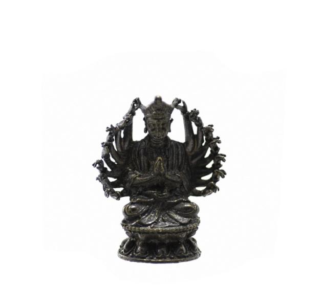 amulette thai guan yin bouddha aux mille bras d36. Black Bedroom Furniture Sets. Home Design Ideas