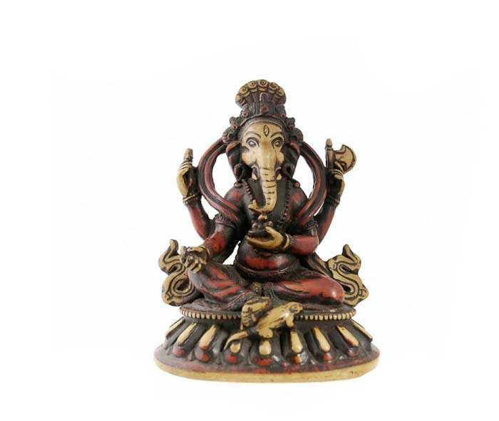 ganesh elephant en resine porte bonheur ganesha dieux hindous statues indiennes objets. Black Bedroom Furniture Sets. Home Design Ideas