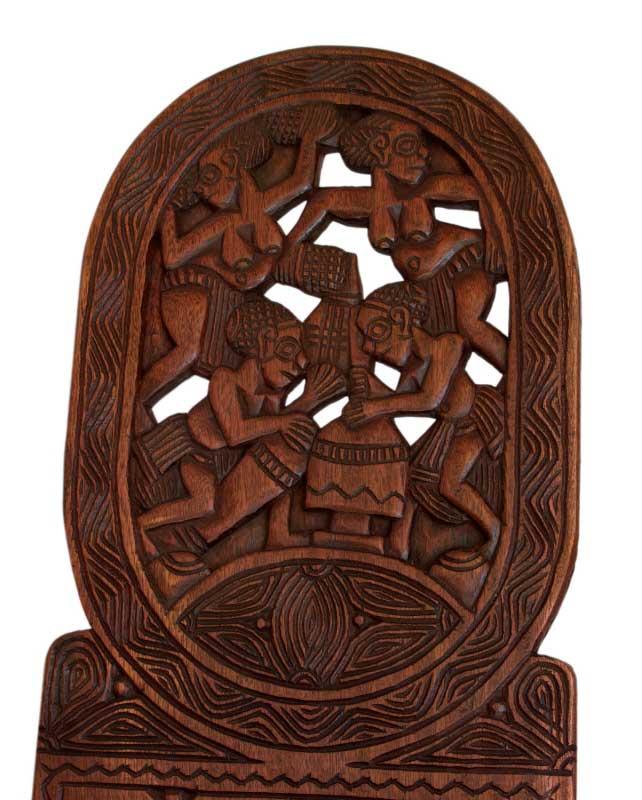 Grande Chaise Africaine 224 Palabre Bois Finement Sculpt 233 E