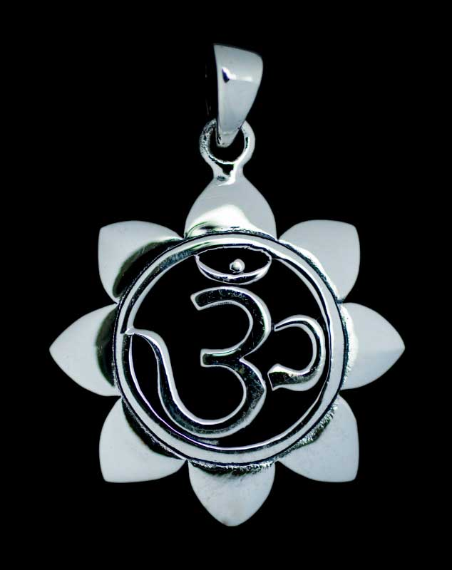 PENDENTIF AUM OM BOUDDHISME  EN ARGENT  BUDDHA  E225