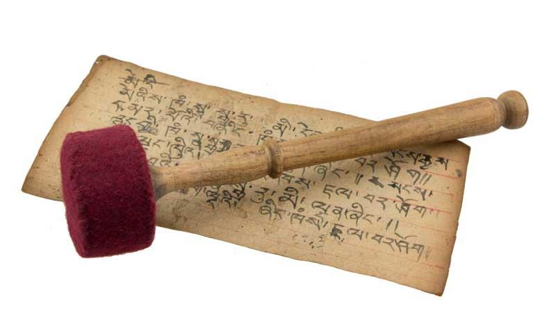 B ton mailloche maillet feutre 28 cm pour bol chantant ou - Maillet en bois ...