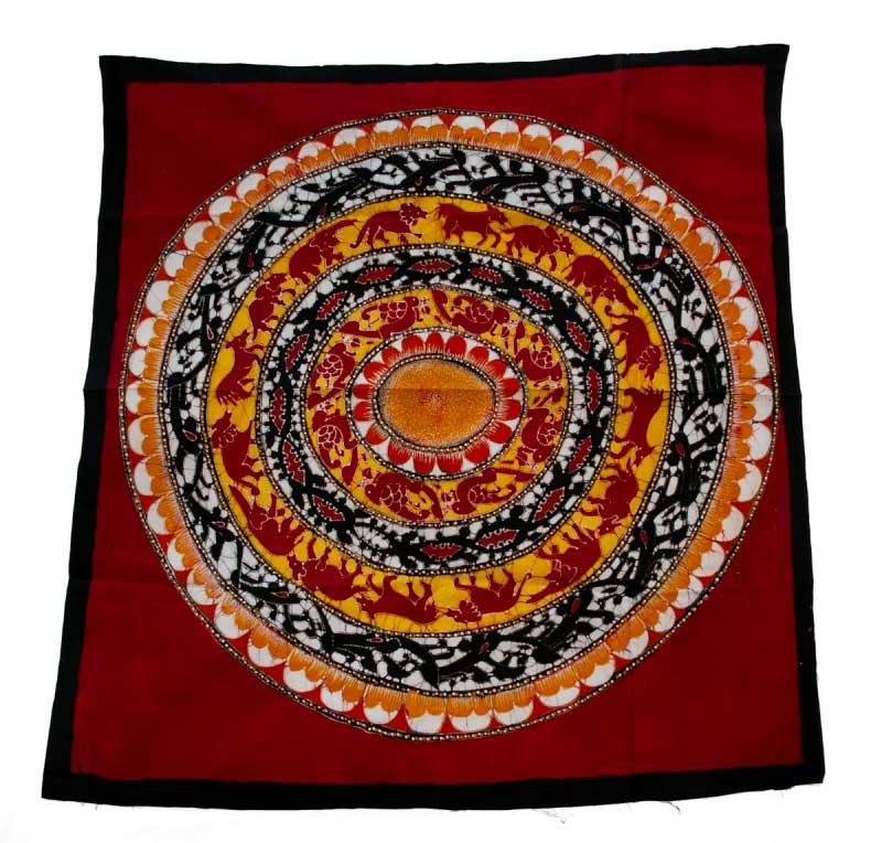 Roue De La Vie-Batik Du Sri Lanka-Qualité Exceptionnelle