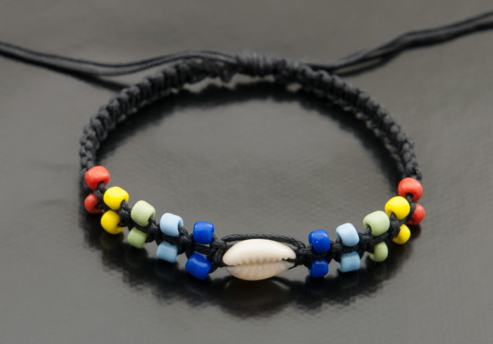 Bracelet bresilien bracelet de l 39 amitie bijoux ethnique cauris exclusivement des produits de - Longueur fil bracelet bresilien ...