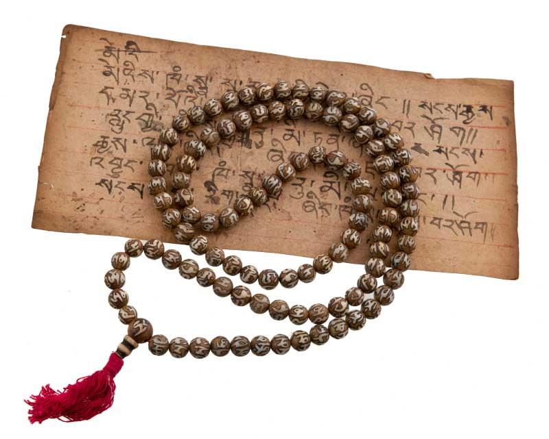 collier de perle bouddhiste