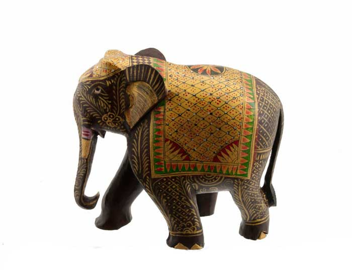 elephant bois sculpture indienne sur bois de kadam artisanat d 39 art indien. Black Bedroom Furniture Sets. Home Design Ideas