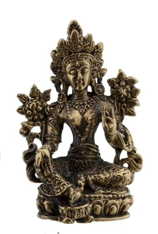 amulette tib taine tara verte green bodhisattva statuette 46mm. Black Bedroom Furniture Sets. Home Design Ideas