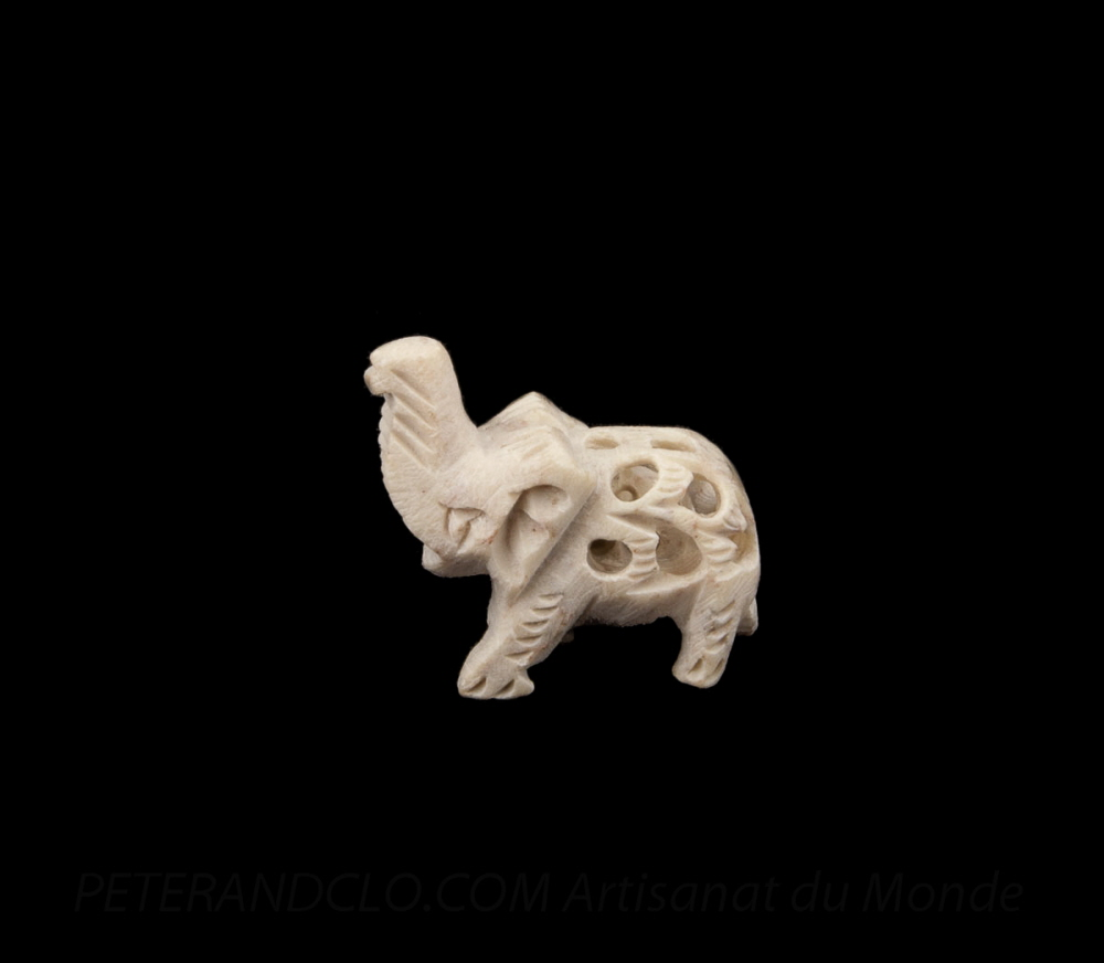 elephant dentelle de pierre ciselee inde statuette elephant elephant artisanat figurines. Black Bedroom Furniture Sets. Home Design Ideas