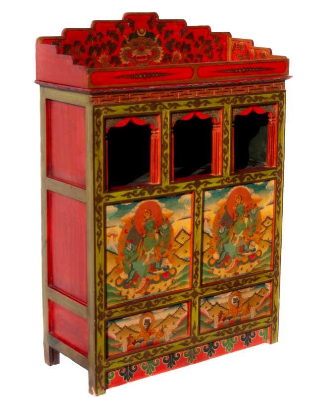 Autel bouddhiste meuble tibetain for Meuble tibetain