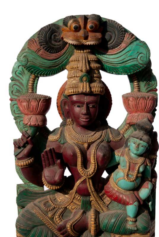 statue de shiva en bois panneau char de temple art asiatique. Black Bedroom Furniture Sets. Home Design Ideas