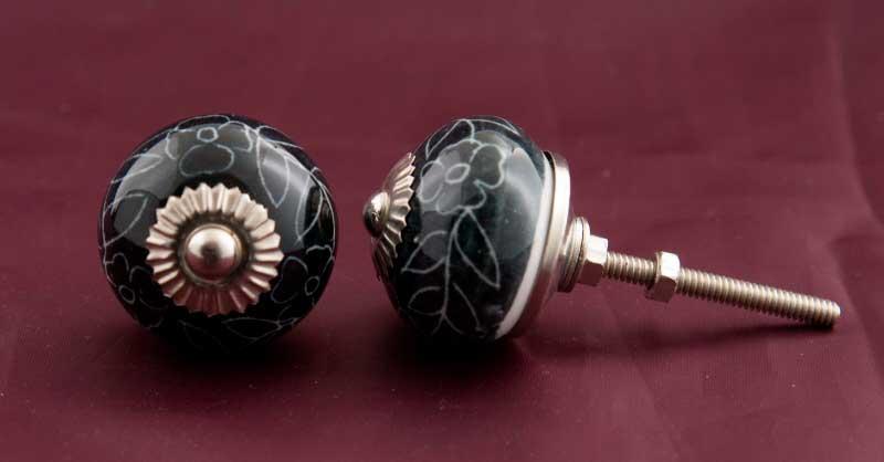 2 boutons de porte poignees de placard tiroir meuble porcelaine 3 7 cm gb4. Black Bedroom Furniture Sets. Home Design Ideas