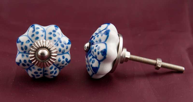 Boutons De Porte Poignees De Placard Tiroir Meuble Porcelaine