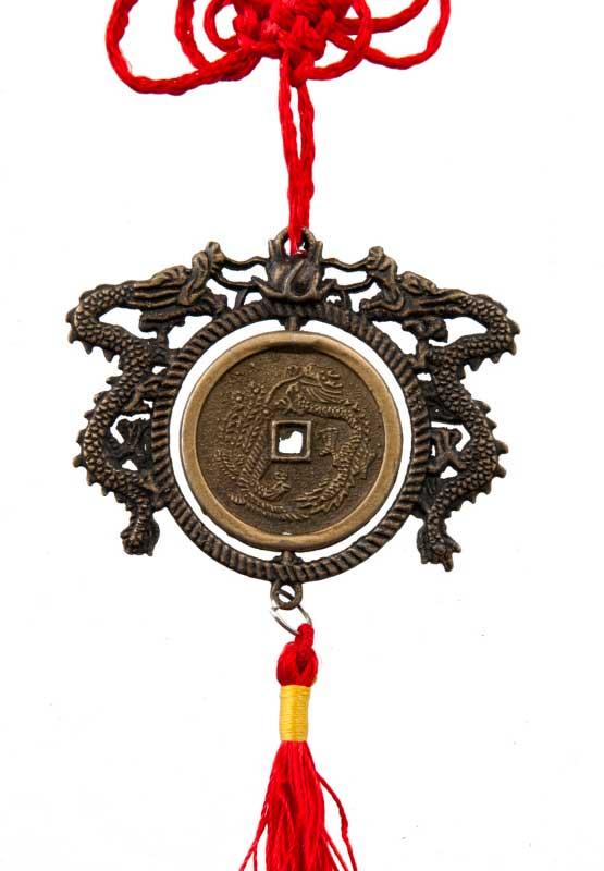 talisman feng shui avec sapeques ou pieces chinoises. Black Bedroom Furniture Sets. Home Design Ideas