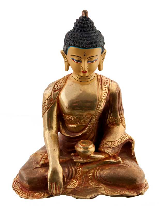bouddha shakyamuni statue tibetaine de bouddha statues. Black Bedroom Furniture Sets. Home Design Ideas
