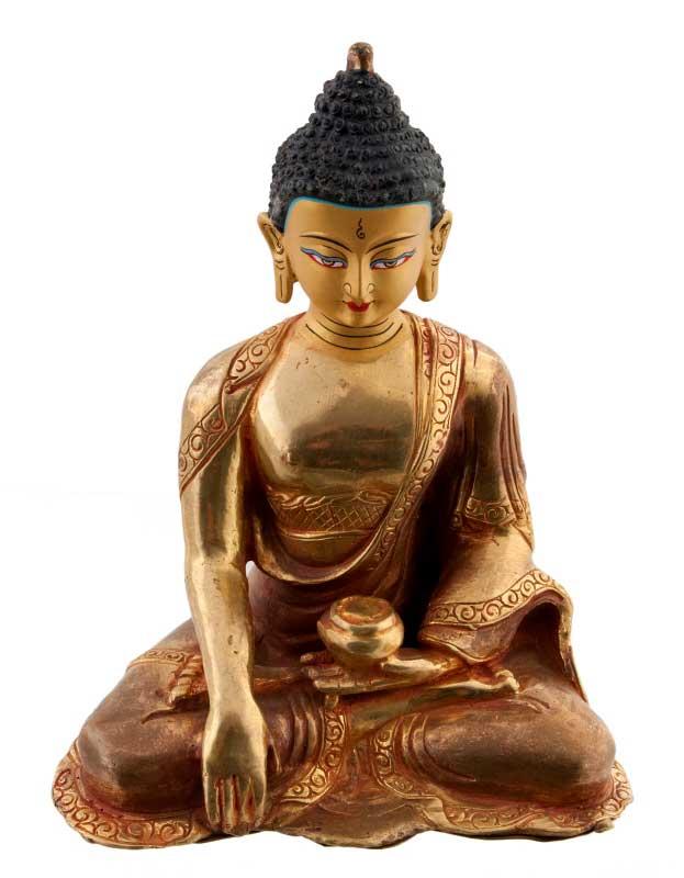 Favori Bouddha Shakyamuni-statue tibetaine de Bouddha 14.5cm-Bodhisattva  GD96