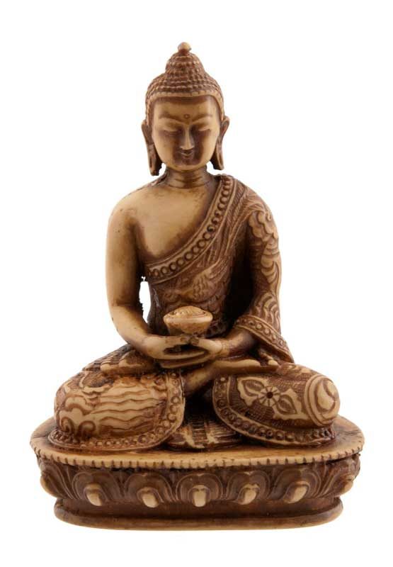 statue tibetaine de bouddha dhyani amitabha en resine 13 5cm 3111