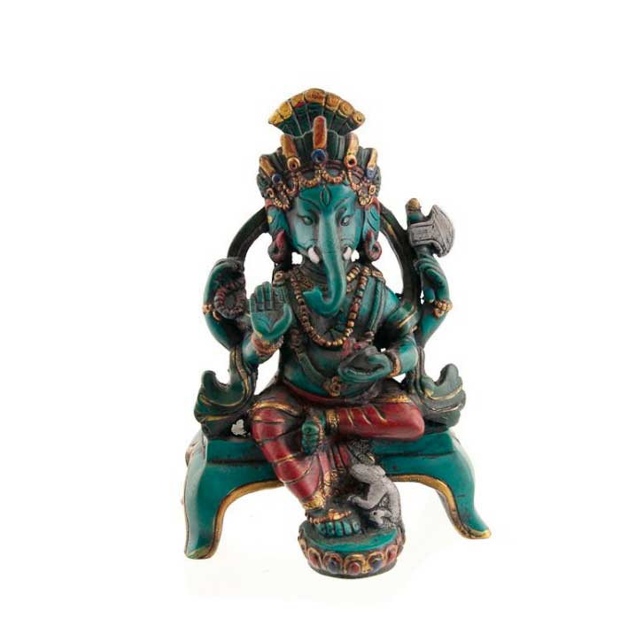 statue de ganesh elephant en resine porte bonheur ganesha 1823. Black Bedroom Furniture Sets. Home Design Ideas