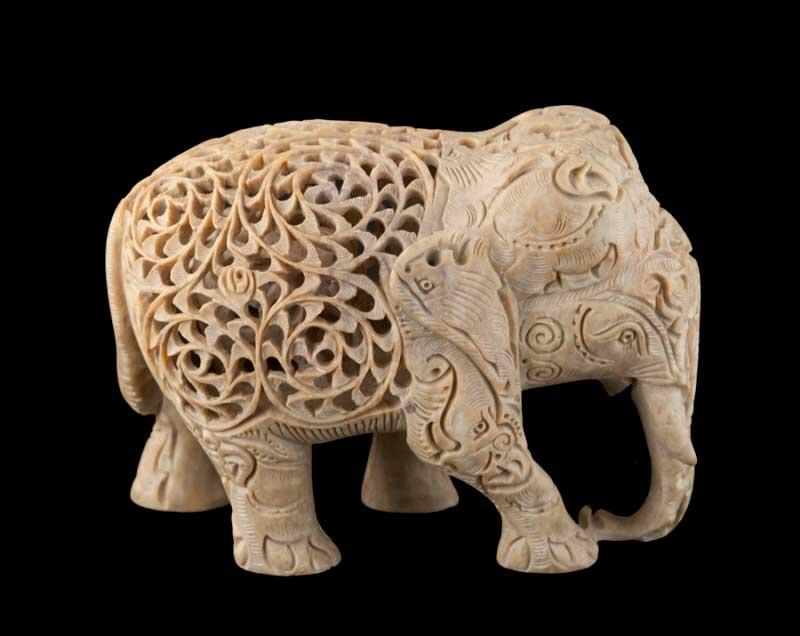 D Elephant Menu Statue Elephant en pie...