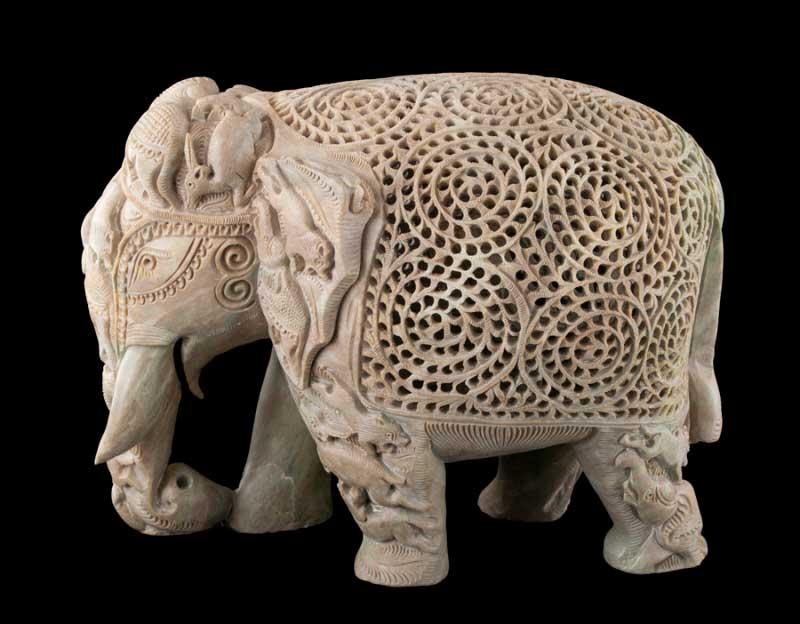 grande statue elephant sculpt e objet de decoration 1078. Black Bedroom Furniture Sets. Home Design Ideas