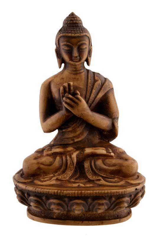 statue tibetaine bouddha vairochana en resine